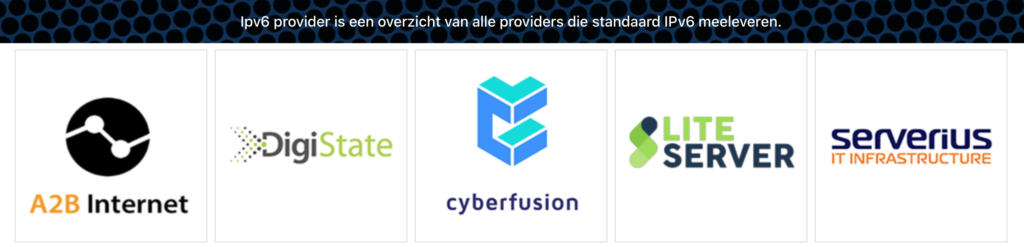 Cyberfusion op ipv6provider.nl